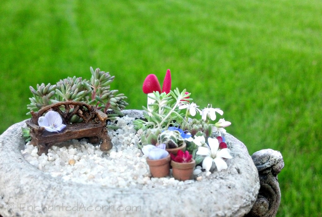 Miniature Fairy Garden Urn Pot