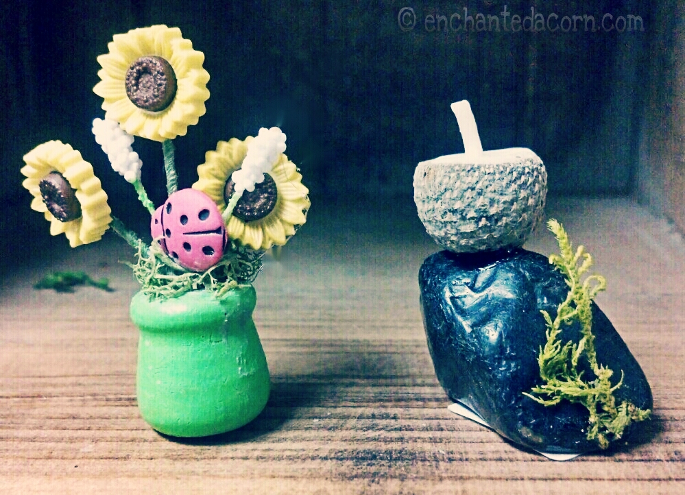 Miniature Flowers & Fairy Candle