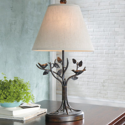 bird table lamp The Enchanted Acorn Fairy Gardens & Miniature Gifts