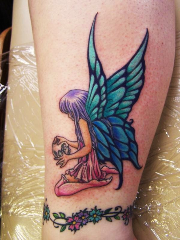 Blue-Winged Fairy Tattoo